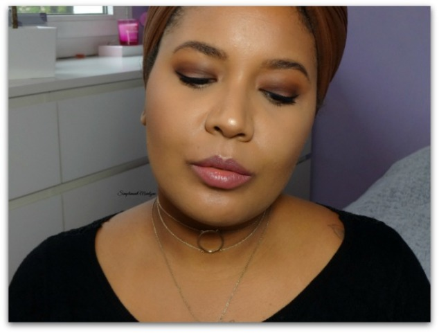 tuto maquillage avec lunettes chocolate bar Too Faced fall makeup Ka brow Benefit Hot Chocolate Mac Brown automnal lumineux simplement marilyne