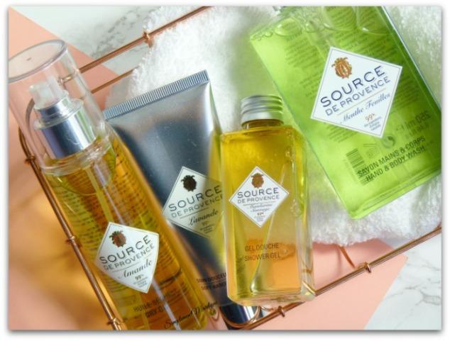 source de provence gel douche mandarine sauvage crème mains lavande huile sèche amande gel corps et mains menthe simplement marilyne