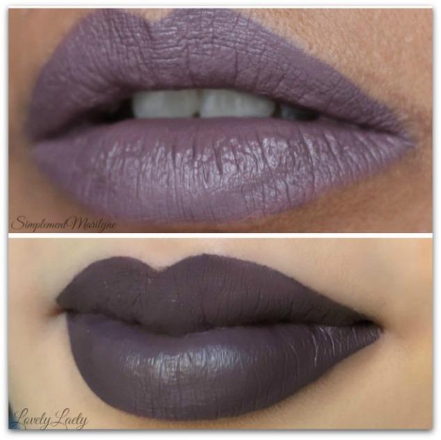 comparaison-peau-claire-foncee-swatch-gravity-hydra-matte-gc-gerard-cosmetics-liquid-lipstick-rouge-a-levres-liquide-mat-simplement-marilyne