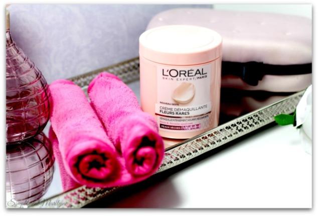 makeup-eraser-L'Oreal-Paris-creme-demaquillante-fleurs-rares-nouveau-geste-jasmin-rose-demaquillant--nourrisant-reconfrantant-simplement-marilyne