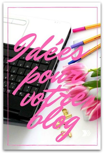 Idées d'articles pour votre blog