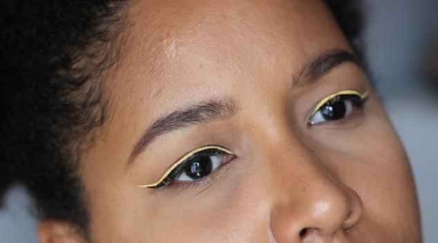 double liner jaune tattoo liner kvd nyx vivid brights jaune