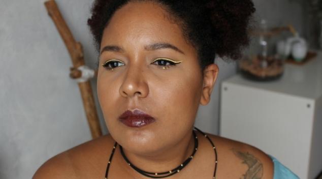 double liner jaune noir lipgloss