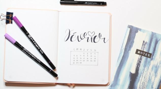 Février 2018 Bullet journal