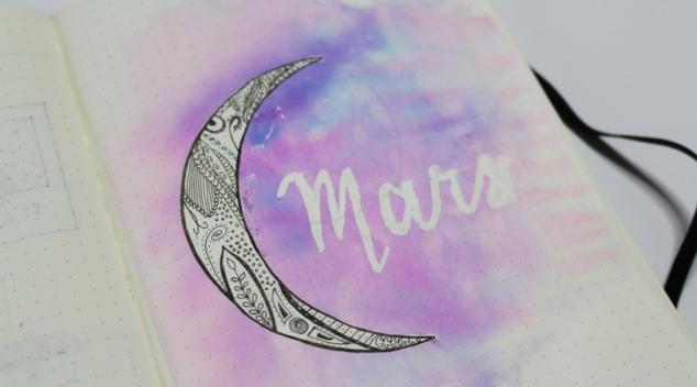 Lune mandala Bullet Journal mois de Mars