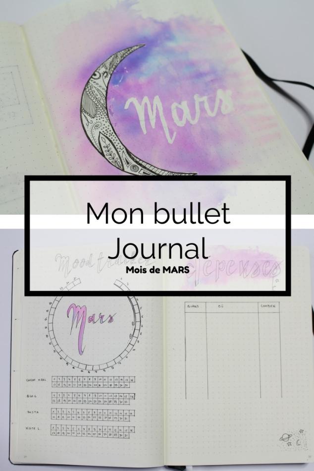 Mon Bullet Journal mois de Mars