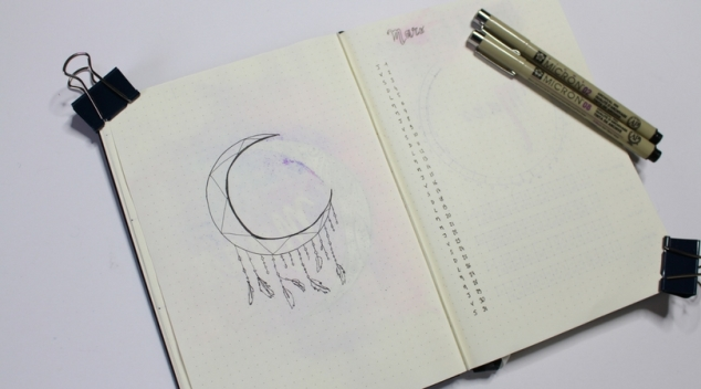 Monthly Log Mois de Mars Bullet Journal