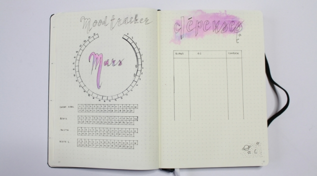 Mood Tracker Habit Trackers Bullet Journal
