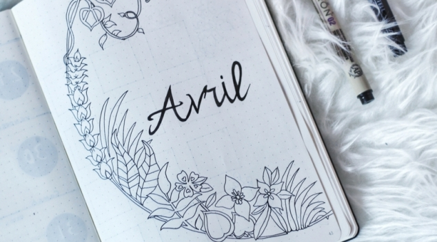 Avril dans mon bullet journal jardin magique