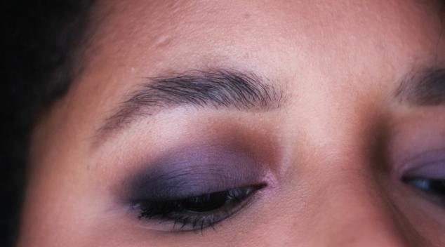 maquillage ton violet purple obsession panda colourpop abh modern renaissance zoeva smoky close up