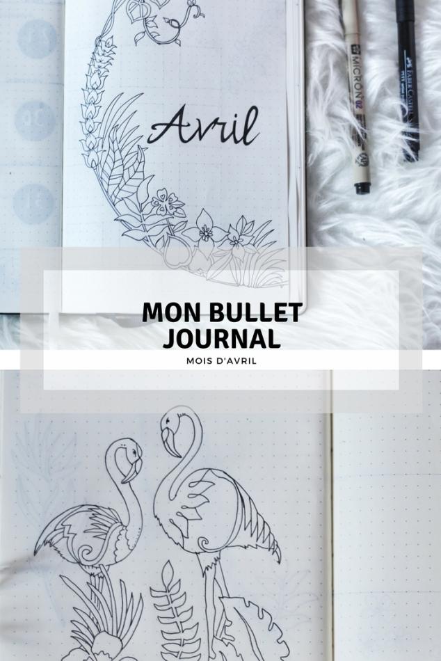 Mon Bullet Journal, mois d'avril