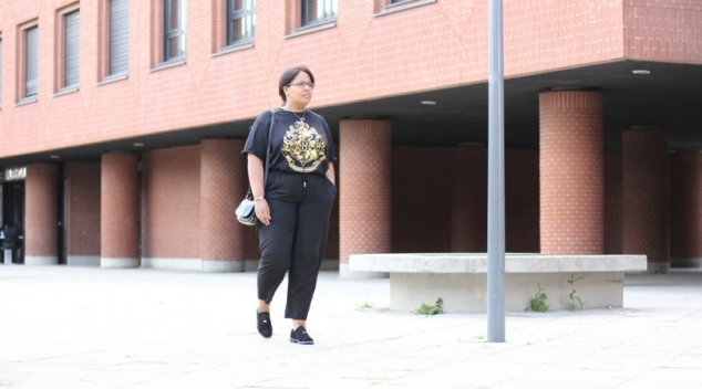 gold'n'black look féminin, mode grande taille