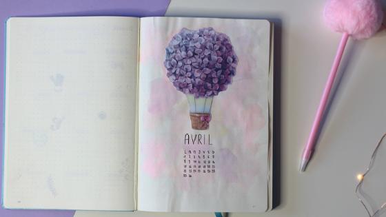 Plan with me avril dans mon bullet journal